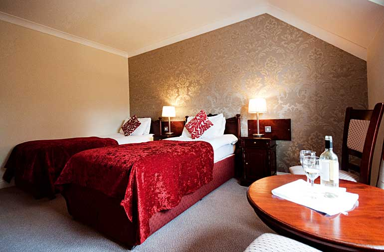 Twin Room at the Killarney Riverside Hotel